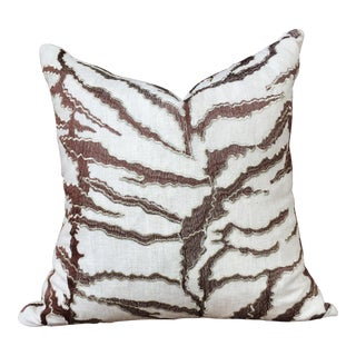 Heavy Ivory Linen With Embroidery Pillow