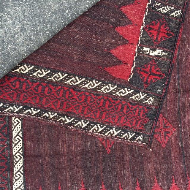 Vintage Kurdish Sofra - 4′4″ × 4′2″ - Image 4 of 6