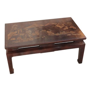 Vintage Chinoiserie Style Lacquer Coffee Table
