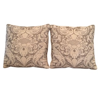 Vintage Fortuny Square Pillows - A Pair