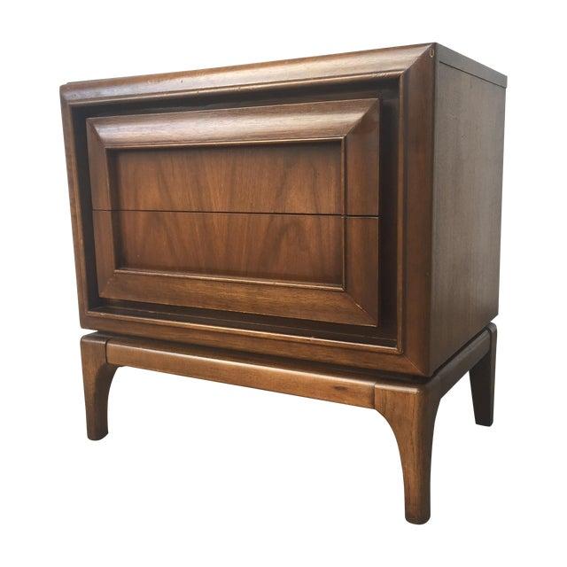 Image of Mid-Century Modern Walnut Nightstand
