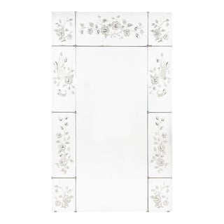Mid-Century French Venetian Glass Mirror with Etched Panels