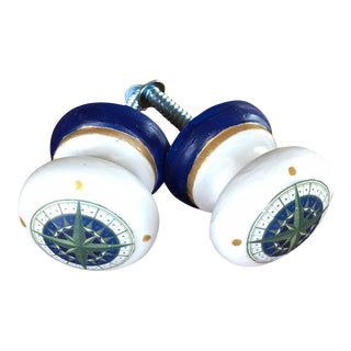 Compass Rose Cabinet Knobs - Pair