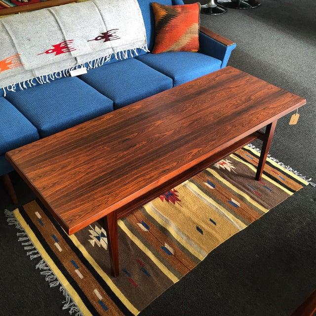 Danish Modern Rosewood Coffee Table - Image 2 of 8