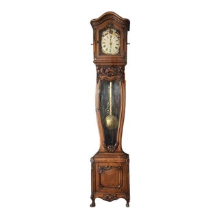 Carved Oak & Brass Clock