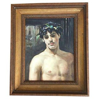 Museum Study Man With Laurel Leaf Crown Painting