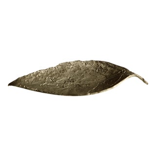 Don Drumm Cast Pewter Leaf Dish