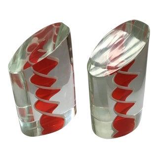 Salviati Murano Art Glass Bookends - A Pair