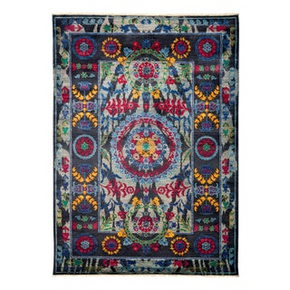 """Suzani Hand Knotted Area Rug - 6'1"""" X 8'6"""""""