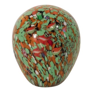 Vintage Milleflori Glass Paper Weight