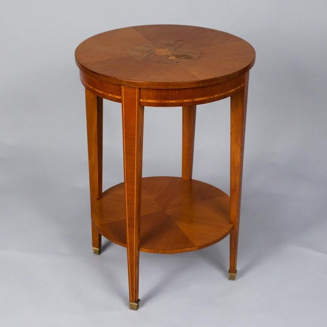 1900s French Louis XVI Style Mahogany Side Table - Image 2 of 10