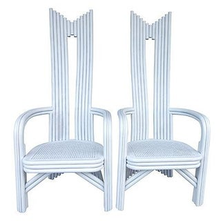 High Back Bamboo Chairs