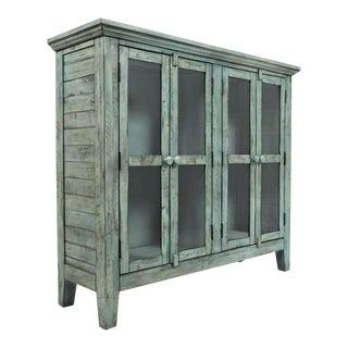 Rustic Vintage Distressed Blue Cabinet