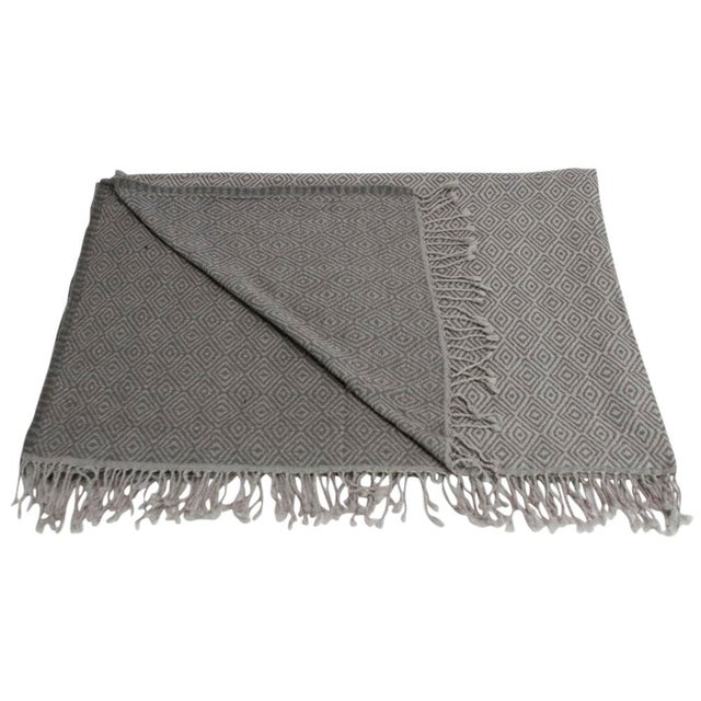 Diamond Patterned Jammu Throw - Image 3 of 5