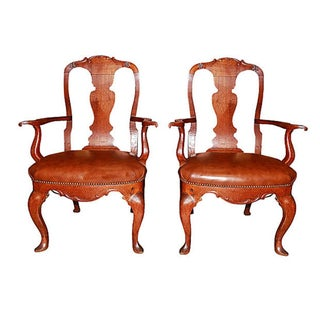 19th Century Danish Armchairs - Pair
