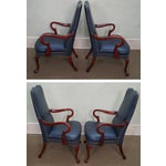 Image of Leathercraft Leather Library Chairs - Pair