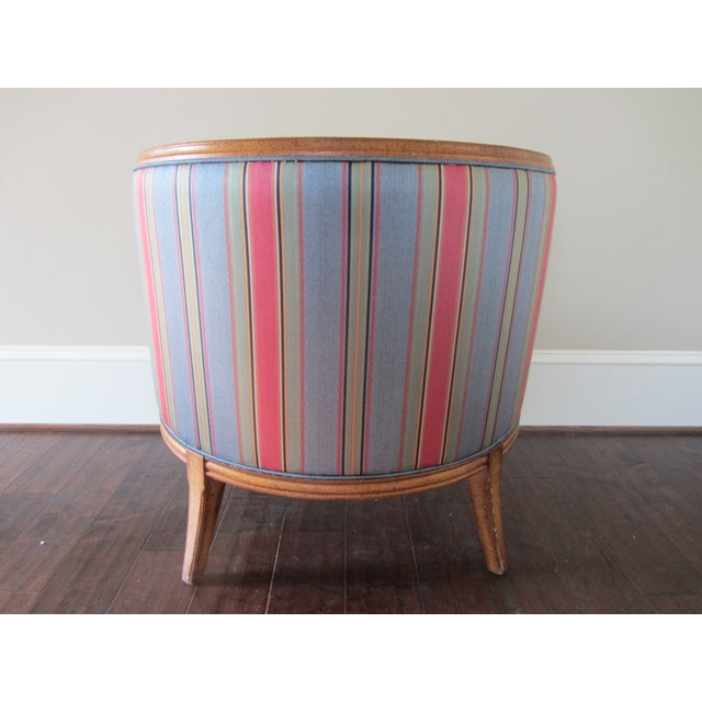 Image of Mid-Century Modern Blue Tub Chair
