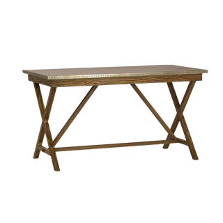 Zinc Top Writing Desk Table