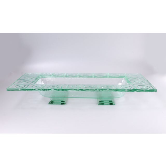 Floating Green Glass Centerpiece Tray - Image 11 of 11