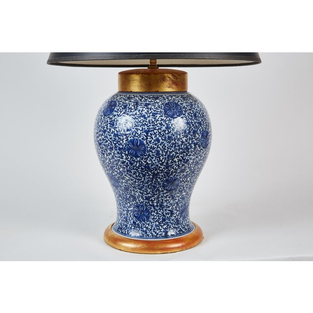High End 19th Century Chinese Ginger Jar Table Lamp With