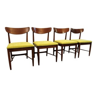 Set of 4 Mid-Century Danish Modern Walnut 'Citron' Curved Back Dining Chairs #2