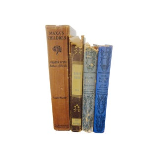 Antique Classic Iconic Books - Set of 4