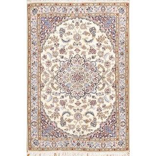 """Persian Nain Silk & Wool Rug -3'3"""" x 4'10"""""""