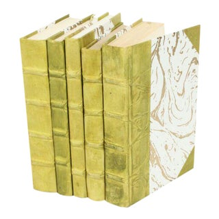 Parchment Collection Light Green Books - Set of 5