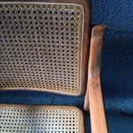 Image of Danish Modern Bentwood Cane Chairs - Set of 6
