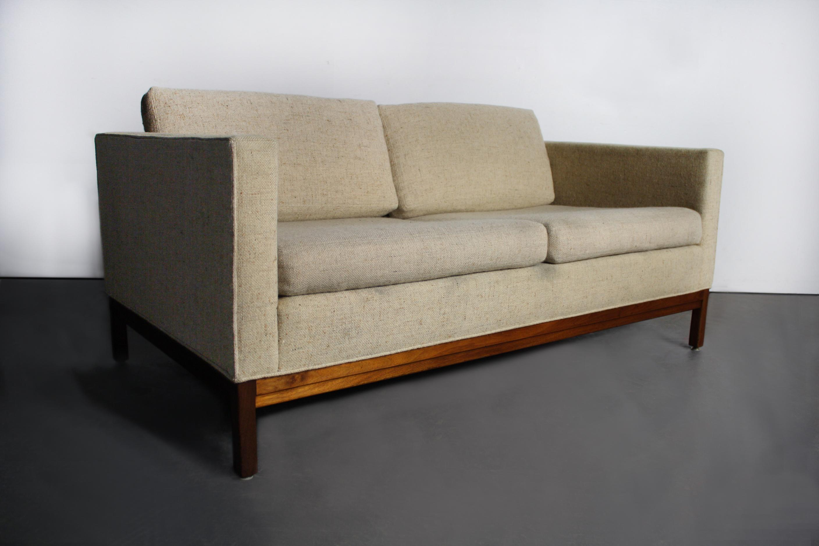 Mid Century Modern Loveseat By Johnson Furniture Company   Image 2 Of 3