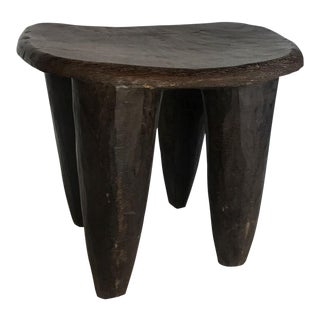 Antique African Sinufo Tribe Stool/Side Table