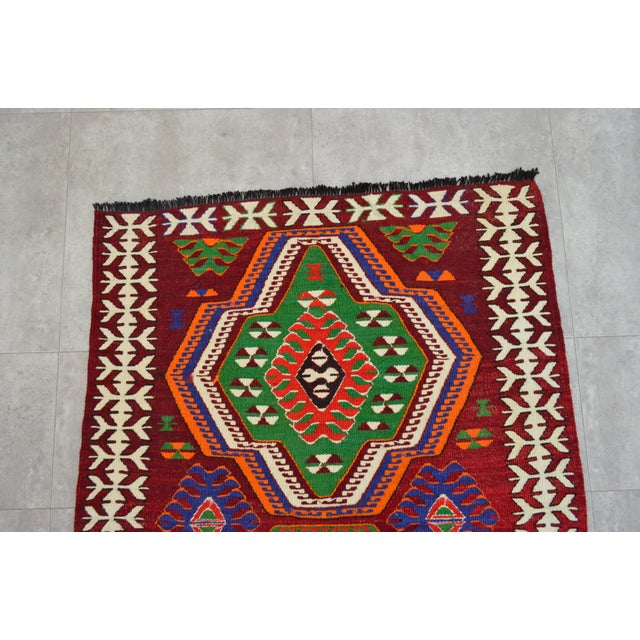 "Turkish Handmade Tribal Kilim Rug - 3'1"" X 4'"