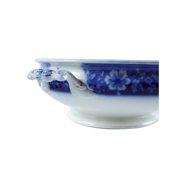 Flow Blue Turin by JB, Tureen With Lid - Image 4 of 5