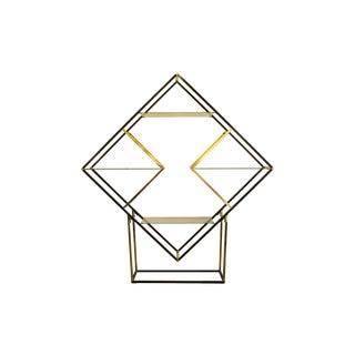 Milo Baughman-Style Diamond Etagere