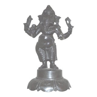 Vintage Indian Brass Bronze Metal Ganesh Figurine