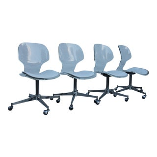 Vintage Lucite Office Chairs - Set of 4