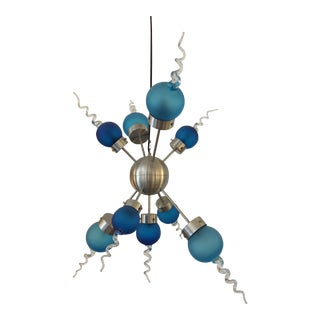 Blue Glass Galaxy Chandelier