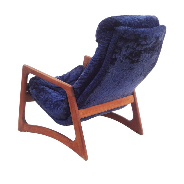 Adrian Pearsall for Craft Blue Lounge Chair - Image 4 of 10