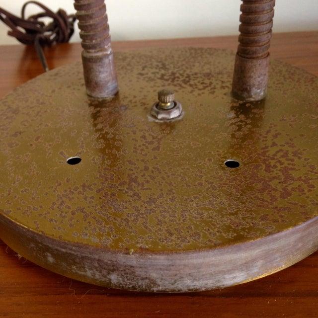 Image of Red Fiberglass Table Lamp