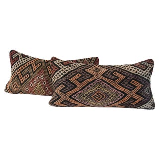 Turkish Diamond Kilim Cushions - Pair