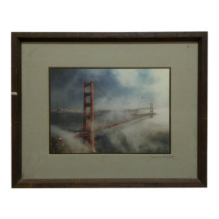 "Wood Framed Color Photograph ""The Golden Gate Bridge"" by Daniel Cole"