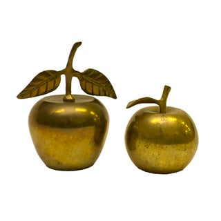 Vintage Brass Apples - a Pair