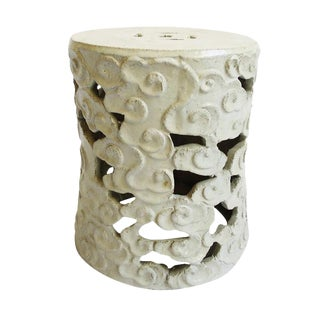 White Ceramic Cloud Stool