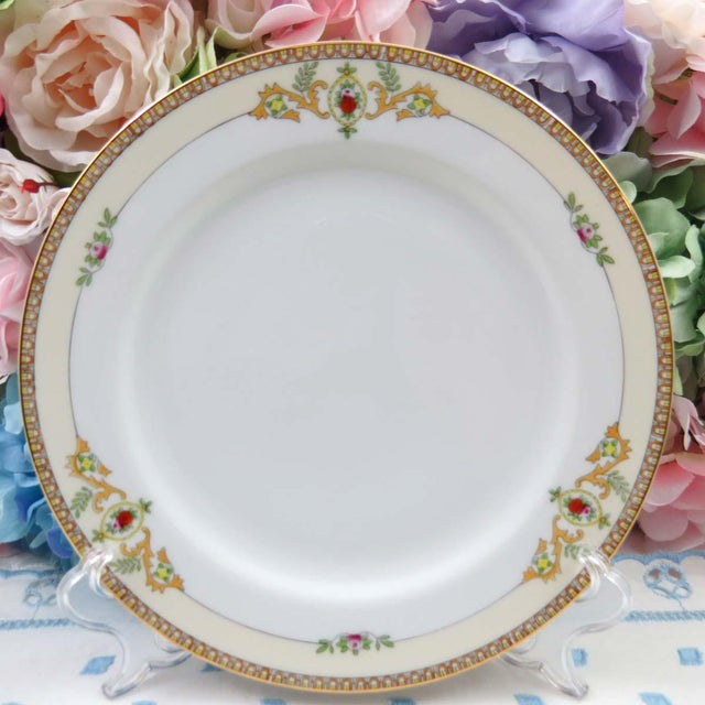 vintage mismatched fine china dinner plates set of 4 image 5 of 11 - China Dinner Plates