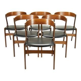 "Kai Kristiansen Danish Modern ""Fire"" Dining Chairs - Set of 6"