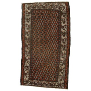 """Hand Knotted Wool Persian Malayer Rug - 3'7"""" X 6'2"""