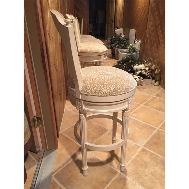 Image of French Country Style Swivel Bar Stools - 4