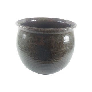 Hand Thrown Pottery Planter With Drain Hole