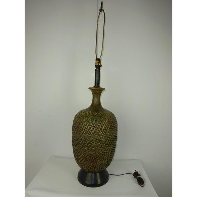 Image of Mid Century Studio Pottery Lamp C.1960