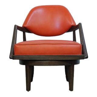 Orange Leather Swivel Chair